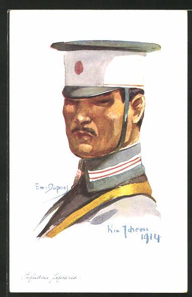 Künstler-AK Em. Dupuis: Kia-Tcheau 1914, Infanterie Japonaise