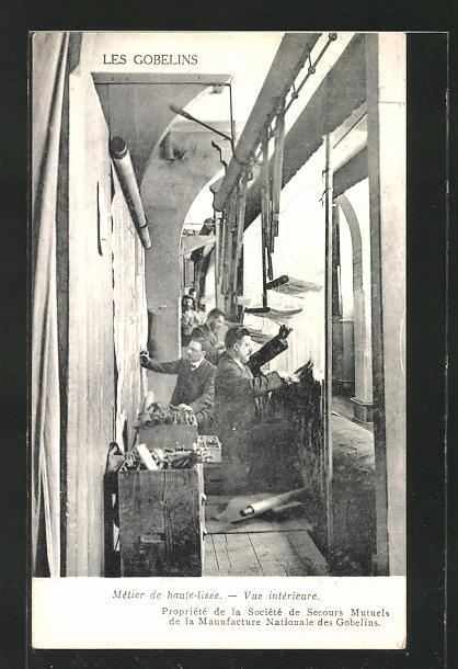 AK Les Gobelins, Teppichweberei