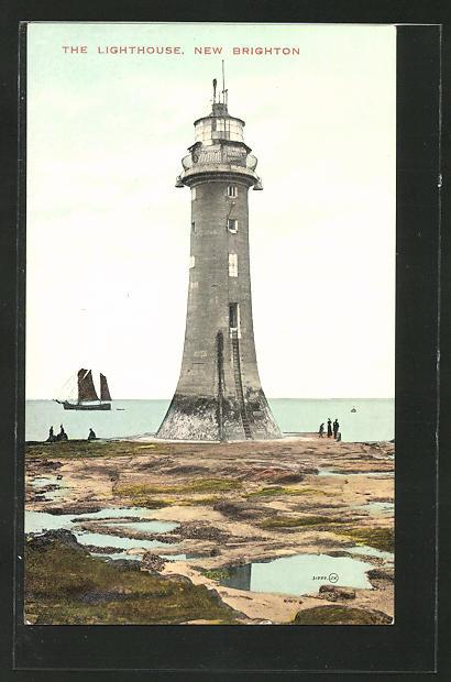 AK New Brighton, the Lighthouse, Leuchtturm