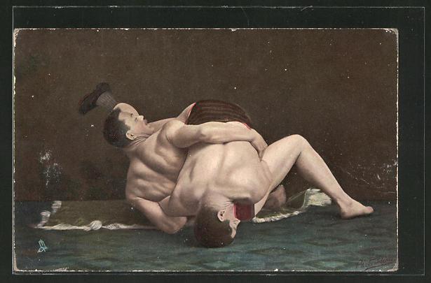 AK Wrestling, Turn-grip on the floor, Ringer im Zweikampf