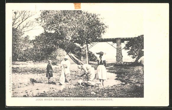 AK Barbados, Joes River Bridge and Washerwomen, Waschfrauen