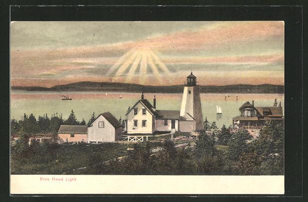 AK Castine, ME, Dice Head Light, Leuchtturm