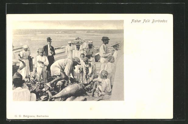 AK Barbados, Fischer bringen ihren Fang an Land