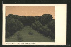 Künstler-AK Wilhelm Steinhausen: Idyllische Waldlandschaft