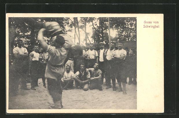 AK Ringkampf auf dem Schwingfest