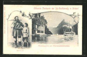 AK Altdorf, Tell-Aufführung, Tellskapelle am Vierwaldstättersee & Wilhelm Tell