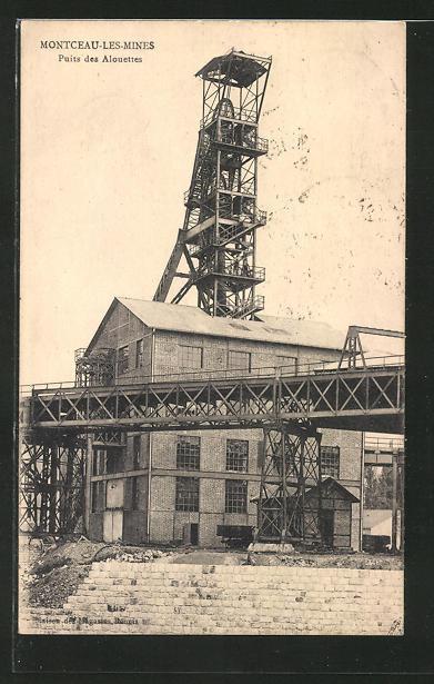 AK Montceau-Les-Mines, Puits des Alouettes, Kohlemine