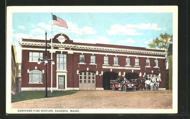 AK Augusta, ME, Hartford Fire Station, Feuerwehr