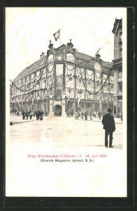 AK Zürich, Eidg. Schützenfest 1907, Sicht auf das Schützenhaus