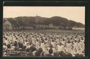AK St. Gallen, Eidg. Turnfest 1922, Turner bei Übungen auf dem Sportplatz