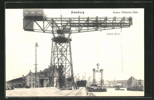 AK Hamburg, Kaiser Wilhelm Höft, Grosser Kran