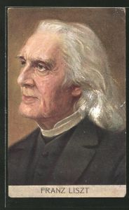 AK Portrait Komponist Franz Liszt
