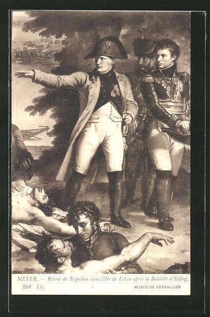 AK Napoleon Bonaparte après la Bataille d'Esling