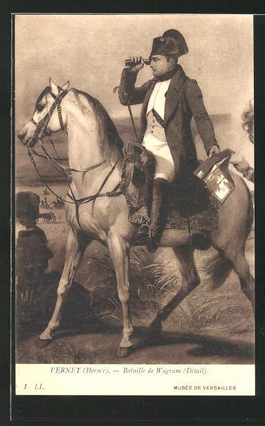 AK Napoleon Bonaparte, Bataille de Wagram