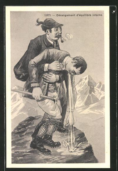 AK Dérangement d'équilibre interne, Bergsteigen