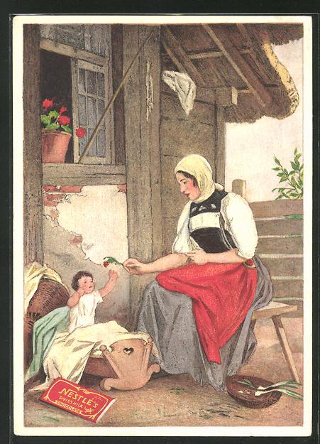 AK Nestlé Chocolat au Lait, Mutter mit Kind
