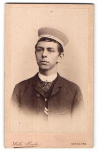 Fotografie Wilh. Biede, Nürnberg, Portrait Student mit Korpsmütze