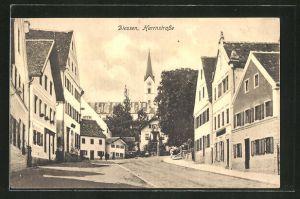 AK Diessen, Blick in die Herrnstrasse mit Kirchturm