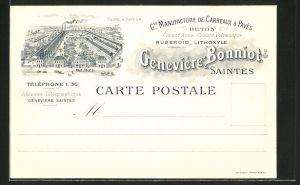 AK Saintes, G. Manufacture de Carreaux & Paves, Usine a Vapeur