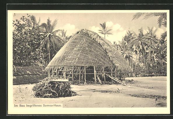 AK Samoa, Im Bau begriffenes Haus