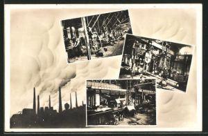 AK Witkowitz, verschiedene Ansichten aus dem Eisenwerk
