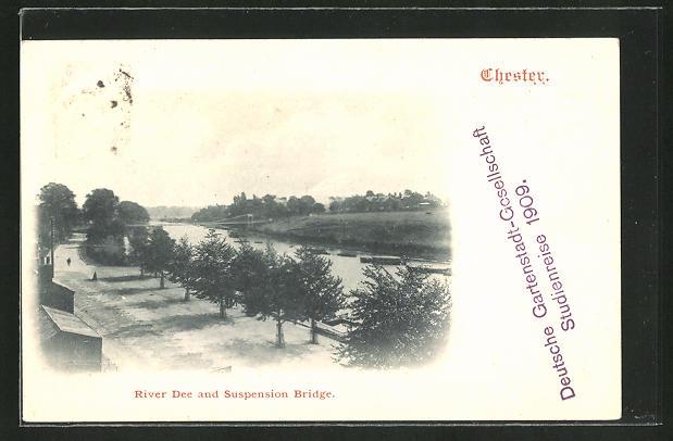 AK Chester, River Dee and Suspension Bridge 0
