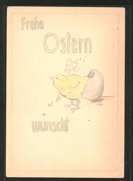 Künstler-AK Handgemalt: Ostergruss aus dem Felde, 1942