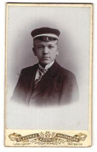 Fotografie A. Dietrich, Glauchau, Waldenburg, Portrait Student mit Korpsmütze