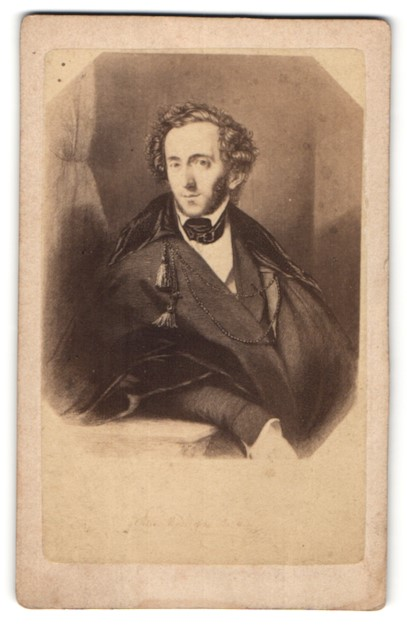 Fotografie unbekannter Fotograf und Ort, Portrait Felix Mendelson-Bartholdy