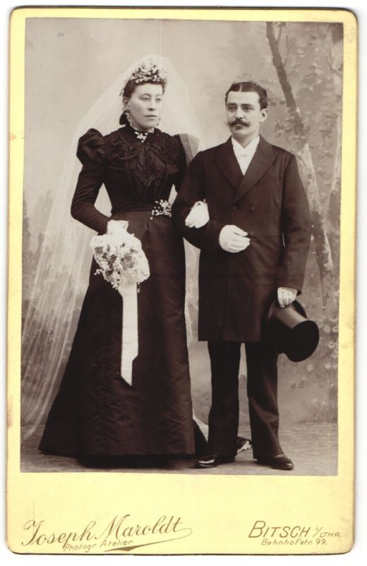 Fotografie Joseph Maroldt, Bitsch i/Lthr., Portrait Hochzeit, Braut und Bräutigam