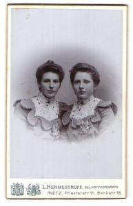 Fotografie L. Hermestroff, Metz, Portrait zwei junge Damen