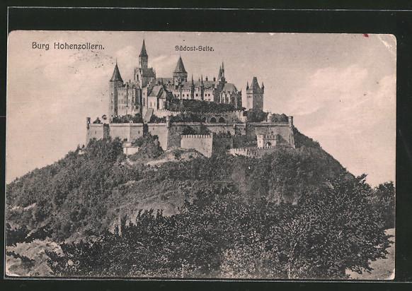 AK Blick auf die Südost-Seite der Burg Hohenzollern