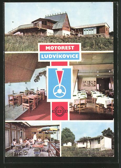 AK Tetschen-Bodenbach / Decin, Motorest Ludvíkovice-Jednota, Autobahnraststätte