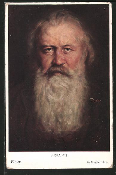 Künstler-AK Porträt Komponist Johannes Brahms