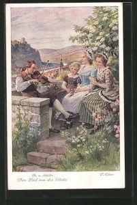 AK Szene aus Friedrich Schiller's