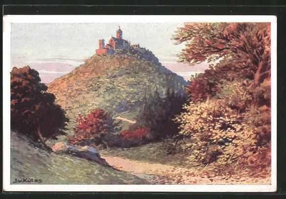AK Wartburg mit malerischer Landschaft