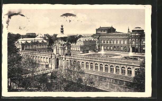 AK Dresden, Ansicht des Zwingers