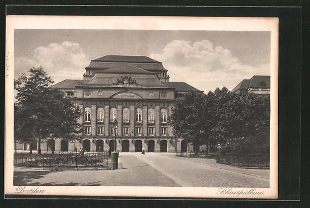 AK Dresden, Ansicht des Schauspielhauses