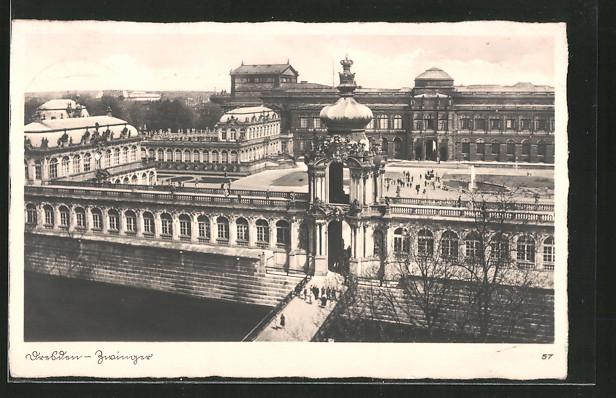 AK Dresden, Blick auf den Zwinger