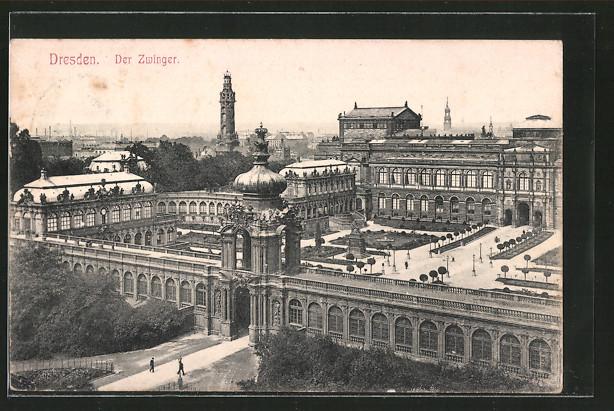 AK Dresden, Blick auf den Königlichen Zwinger