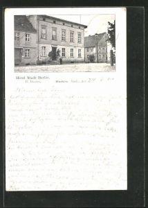 AK Storkow / Mark, Hotel Stadt Berlin von H. Dames