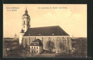 AK Fürstenwalde / Spree, renovierte St. Marien-Domkirche