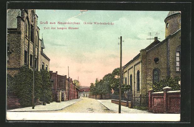 AK Neuenkirchen, Synagoge und Blick in die Lange Strasse 0