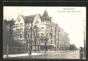 AK Berlin-Wilmersdorf, Berlinerstrasse Ecke Kaiser-Allee mit Cigarrengeschäft