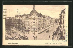 AK Berlin-Wilmersdorf, Blick in die Spichern-strasse Ecke Kaiser-Allee
