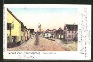 Goldfenster-AK Babenhausen, Partie in der Bahnhofstrasse