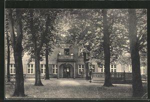 AK Plau, Partie mit Kurhotel und Pension Klüschenberg