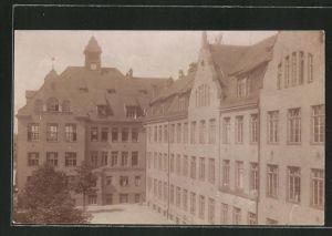 AK Augsburg, Blick zum Reservelazarett Abt. Schillerschule