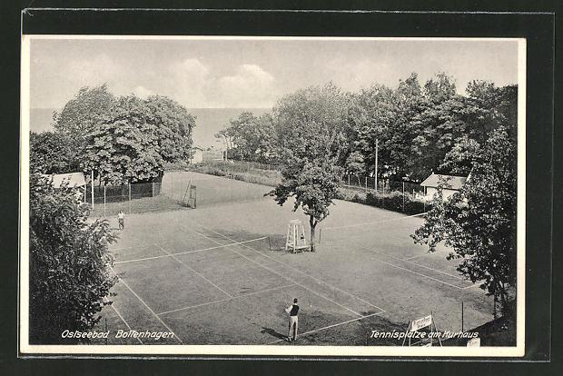 AK Boltenhagen, Tennisplatz am Kurhaus