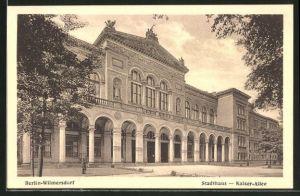 AK Berlin-Wilmersdorf, Stadthaus in der Kaiser-Allee